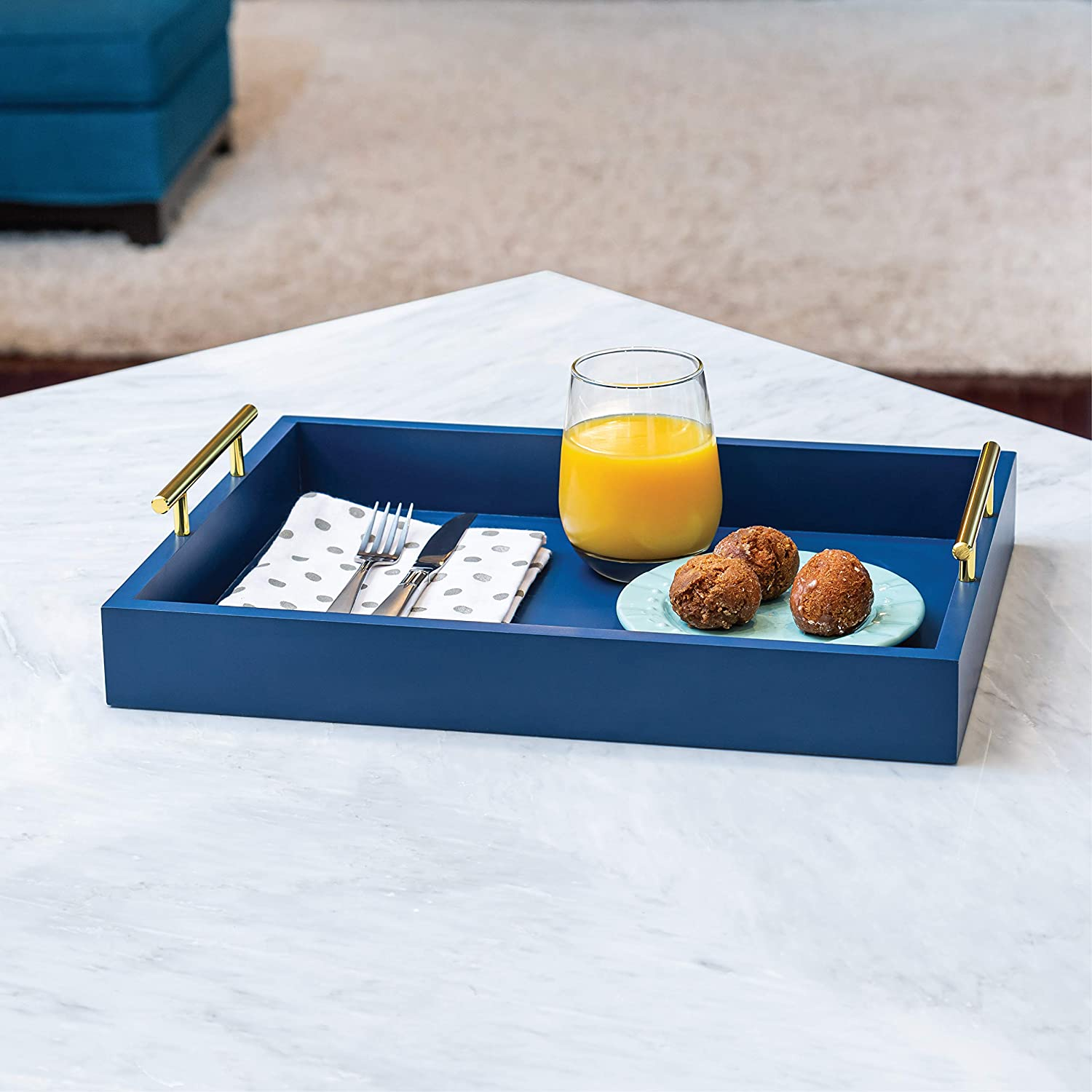 Coffee Table Tray - Navy blue