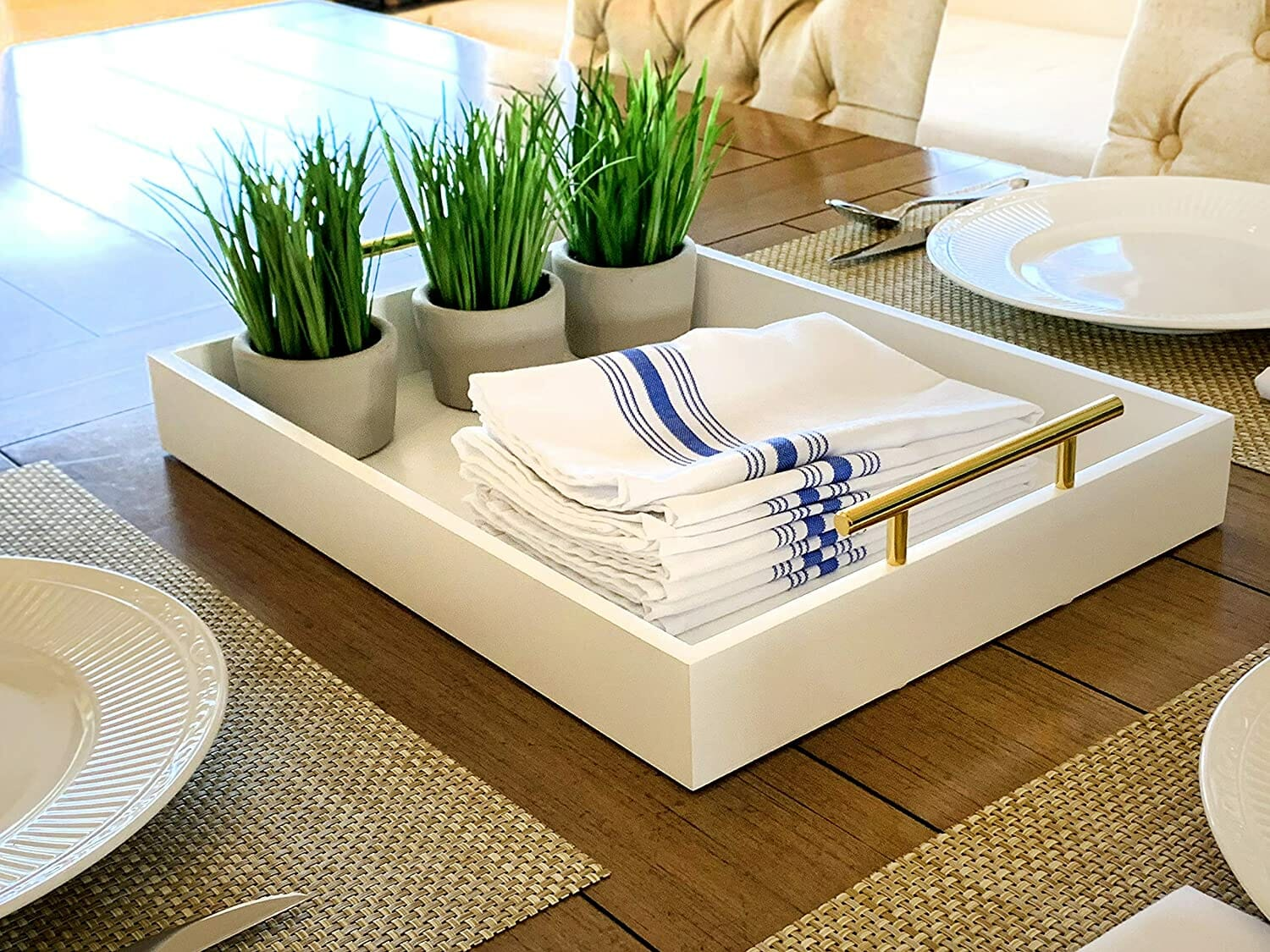 Coffee table tray white